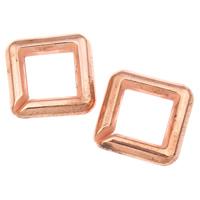 Akrylowy Pierścień łączący, Akryl, Kwadrat, oryginalny kolor, 21x5mm, otwór:około 12mm, około 380komputery/torba, sprzedane przez torba