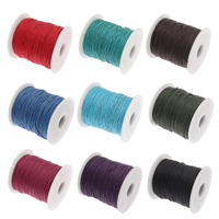 Wax Cord Waxed Cotton Cord with plastic spool mixed colors 1mm 10Spools/Bag 100Yard/Spool