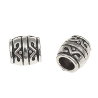 Zinc Alloy Large Hole Bead Drum antique silver color plated lead   cadmium free 8x7mm Hole:Approx 4mm 100G/Bag