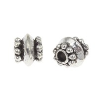 Zinc Alloy Jewelry Beads antique silver color plated nickel lead   cadmium free 7x8mm Hole:Approx 2mm Approx 100G/Bag