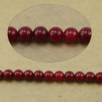 Natural Marble Beads, Round, red, 6mm, Hole:Approx 0.8mm, Length:Approx 15.5 Inch, 10Strands/Lot, Approx 65PCs/Strand, Sold By Lot