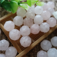 Natural Rose Quartz Beads, Round, faceted, 14mm, Hole:Approx 1mm, 20PCs/Bag, Sold By Bag