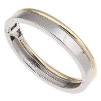 Zinc Alloy Bangle, plated, two tone, nickel, lead & cadmium free, 68x58x12mm, Inner Diameter:Approx 60x50mm, Length:Approx 7 Inch, Sold By PC
