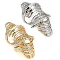 Кольца на весь палец, цинковый сплав, Другое покрытие, Много цветов для выбора, не содержит никель, свинец, 53x20mm, размер:7, продается PC