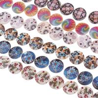 Naturalne koraliki z muszli z nadrukiem, Muszla słodkowodna, Drukowane, naturalny & mieszane, 20x4mm, otwór:około 1mm, długość:15.5 cal, 10nici/torba, około 20komputery/Strand, sprzedane przez torba