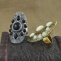 Кольца на весь палец, цинковый сплав, с канифоль, Другое покрытие, разный размер для выбора, Много цветов для выбора, не содержит никель, свинец, 42mm, 15ПК/Лот, продается Лот