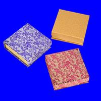 Tektura Pudełko na bransoletki, Kwadrat, różne wzory do wyboru, 90x90x30mm, 60komputery/wiele, sprzedane przez wiele