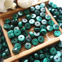 Natural Malachite Beads, Flat Round, different size for choice, Hole:Approx 1mm, 30PCs/Bag, Sold By Bag