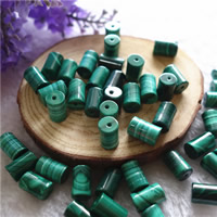 Natural Malachite Beads, Column, 6x10mm, Hole:Approx 1mm, 20PCs/Bag, Sold By Bag