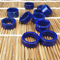 Natural Lapis Lazuli Finger Ring Donut 24x12mm Hole:Approx 1mm US Ring Size:8 2PCs/Bag