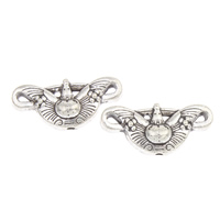 Zinc Alloy Jewelry Beads antique silver color plated lead   cadmium free 23x10x6mm Hole:Approx 1mm Approx 27PCs/Bag