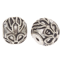 Zinc Alloy Jewelry Beads Drum antique silver color plated lead   cadmium free 9x11mm Hole:Approx 1mm Approx 20PCs/Bag