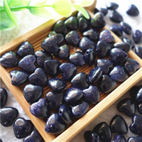 Natural Blue Goldstone Beads, Heart, 10mm, Hole:Approx 1mm, 30PCs/Bag, Sold By Bag