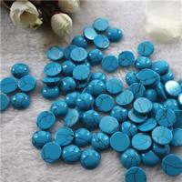 Синтетическая бирюза кабошон, Плоская круглая форма, плоской задней панелью, голубой, 14mm, 20ПК/сумка, продается сумка