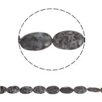 Labradoriet Kraal, Plat Ovaal, natuurlijk, 30x20x9mm, Gat:Ca 2mm, Ca 14pC's/Strand, Per verkocht Ca 16 inch Strand