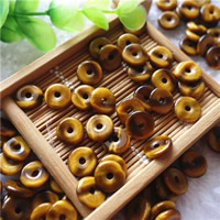 Natural Tiger Eye Pendants, Flat Round, different size for choice, Hole:Approx 2mm, 20PCs/Bag, Sold By Bag