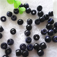 Natural Blue Goldstone Beads, Drum, 8x10mm, Hole:Approx 2mm, 30PCs/Bag, Sold By Bag