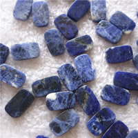 Natural Sodalite Beads, Rectangle, 12x20mm, Hole:Approx 1mm, 20PCs/Bag, Sold By Bag