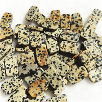 Natural Dalmatian Beads, Rectangle, 12x20mm, Hole:Approx 1mm, 10PCs/Bag, Sold By Bag