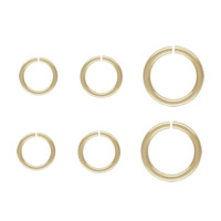 Gold Filled Open Jump Ring, Donut, 14K gold-filled & different size for choice, nickel, lead & cadmium free, Sold By PC