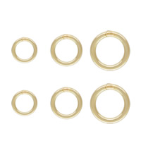 Gold Filled Machine Cut Closed Jump Ring, Donut, 14K gold-filled & different size for choice, nickel, lead & cadmium free, Sold By PC
