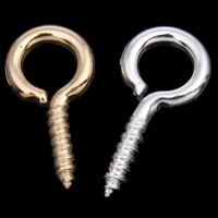 Iron Peg Bail, plated, more colors for choice, nickel, lead & cadmium free, 6x13x1mm, Hole:Approx 3.5mm, 4000PCs/Bag, Sold By Bag