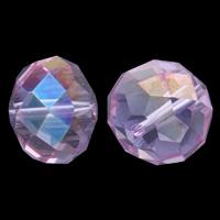 Jäljitelmä CRYSTALLIZED™ kristalli helmiä, Rondelli, kasvot, Lt Ametisti, 17x13.5mm, Reikä:N. 1.5mm, 10PC/laukku, Myymät laukku