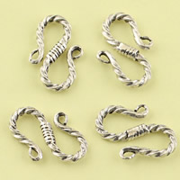 Thailand Sterling Silver S Shape Clasp, 12x18.90x2.20mm, Hole:Approx 4.4mm, 20PCs/Lot, Sold By Lot