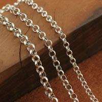 Таиланд Ожерелье цепь, различной длины для выбора & разный размер для выбора & Роло цепь, продается Strand