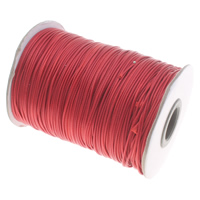 Wax Cord Waxed Cotton Cord red 1mm