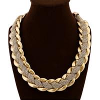 CCB Ожерелья, Пластик с медным покрытием, с Хлопковый шнурок, с 3lnch наполнитель цепи, Золотой, 30mm, длина:Приблизительно 21 дюймовый, 5пряди/Лот, продается Лот