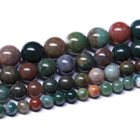 Natural Indian Agate Beads Round Grade AAAAA Hole:Approx 1mm Sold Per Approx 15.5 Inch Strand