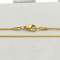 Stainless Steel Necklace Chain gold color plated serpentine chain 1.50mm Length:Approx 17 Inch 30Strands/Lot
