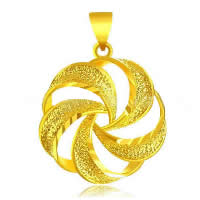 24 K Gold Color Plated Pendant Brass Flower 24K gold plated flower cut   vacuum protective color   hammered 20x27mm Hole:Approx 3x5mm 10PCs/Lot