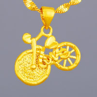 24 K Gold Color Plated Pendant Brass Bike word love 24K gold plated vacuum protective color   hammered 19x15mm Hole:Approx 3x5mm 10PCs/Lot