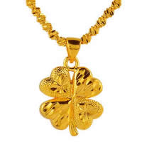 24 K Gold Color Plated Pendant Brass Four Leaf Clover 24K gold plated flower cut   vacuum protective color 16x20mm Hole:Approx 3x5mm 10PCs/Lot
