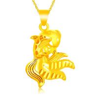 24 K Złoty Kolor Plated wisiorek, Mosiądz, Złota rybka, pozłacane 24-karatowym złotem, kwiat cięty & próżniowe ochronny kolor & pusty, 21x32mm, otwór:około 3x5mm, 10komputery/wiele, sprzedane przez wiele