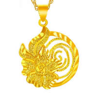 24 K Gold Color Plated Pendant Brass Flower 24K gold plated flower cut   vacuum protective color   hammered 23x25mm Hole:Approx 3x5mm 10PCs/Lot