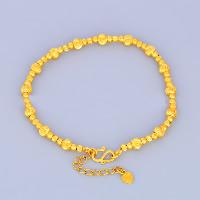 24 -каратного золота Цвет позолоченный браслет, Латунь, с 1lnch наполнитель цепи, Позолоченные 24k, вакуум защитные цвета, 5mm, длина:Приблизительно 6.4 дюймовый, 10пряди/Лот, продается Лот
