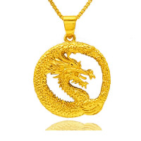 24 K Gold Color Plated Pendant Brass Dragon 24K gold plated vacuum protective color 24x26mm Hole:Approx 3x5mm 10PCs/Lot