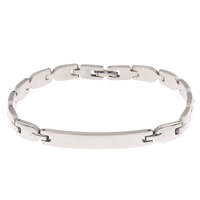 Stainless Steel Jewelry Bracelet, original color, 40x6x2mm, Sold Per Approx 8 Inch Strand