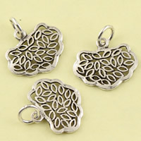 Hollow Brass Pendants, Longevity Lock, antique silver color plated, lead & cadmium free, 16.40x18x1.60mm, Hole:Approx 3.5mm, Sold By PC