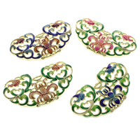 Cloisonne Pendants, handmade, more colors for choice, 57x31x5mm, Hole:Approx 1x2mm, 10PCs/Bag, Sold By Bag