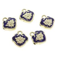 Cloisonne Pendants, Lock, handmade, 13x14x5mm, Hole:Approx 1mm, 10PCs/Bag, Sold By Bag
