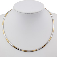 Stainless Steel Chain Necklace, plated, more colors for choice, 4x1mm, Sold Per Approx 18 Inch Strand