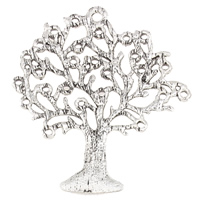 Zinc Alloy Pendants, Tree, antique silver color plated, lead & cadmium free, 53x62x2mm, Hole:Approx 2mm, Sold By PC