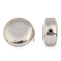 Copper Coated Plastic Beads, Flat Round, platinum color plated, 22x11mm, Hole:Approx 1mm, 30PCs/Bag, Sold By Bag