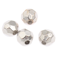 Copper Coated Plastic Beads, platinum color plated, lead & cadmium free, 5.5x6mm, Hole:Approx 1mm, 200PCs/Bag, Sold By Bag