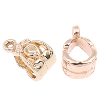Zinc Alloy Bail Beads, real gold plated, 7x14x8mm, Hole:Approx 1mm,4x5mm, 20PCs/Bag, Sold By Bag