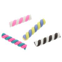 Кабошоны из полимерной глины, полимерный клей, двухцветный, Много цветов для выбора, 25x5mm, 100ПК/сумка, продается сумка